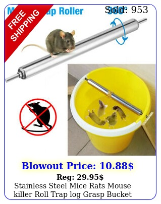 stainless steel mice rats mouse killer roll trap log grasp bucket rolling rolle