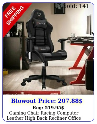 gaming chair racing computer leather high back recliner office desk swivel sea