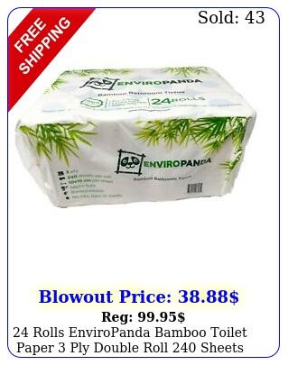 rolls enviropanda bamboo toilet paper ply double roll sheet