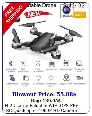 hj large foldable wifi gps fpv rc quadcopter p hd camera remote drone u