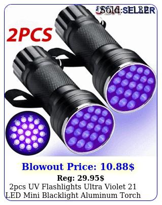 pcs uv flashlights ultra violet led mini blacklight aluminum torch ligh