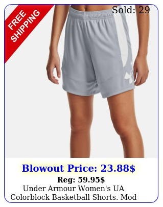 under armour women's ua colorblock basketball shorts mod graywhit
