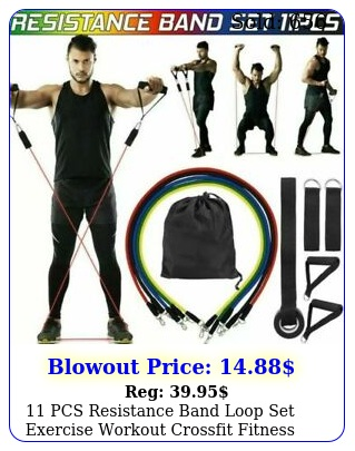 pcs resistance band loop set exercise workout crossfit fitness yoga pilate