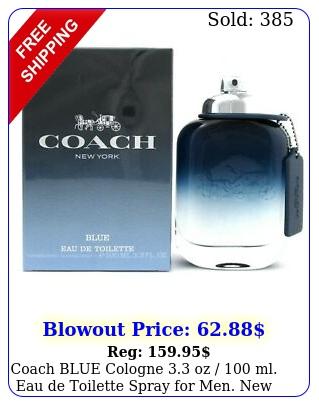 coach blue cologne oz  ml eau de toilette spray men i