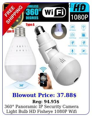 panoramic ip security camera light bulb hd fisheye p wifi hidden camer