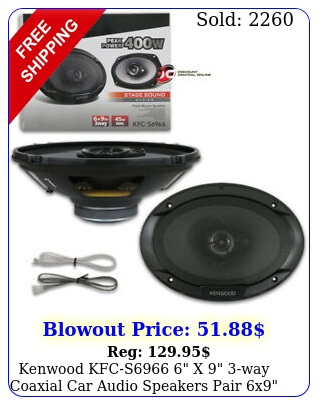 kenwood kfcs x way coaxial car audio speakers pair x watt