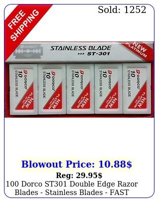 dorco st double edge razor blades stainless blades fast shippin