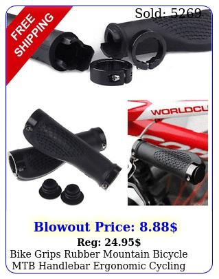 bike grips rubber mountain bicycle mtb handlebar ergonomic cycling lock on tp