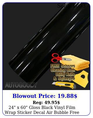 x gloss black vinyl film wrap sticker decal air bubble free ft x f