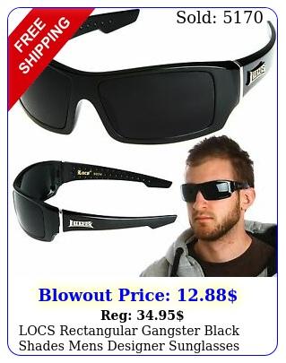 locs rectangular gangster black shades mens designer sunglasses cholo dark len
