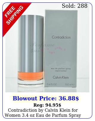 contradiction by calvin klein women oz eau de parfum spray nib seale