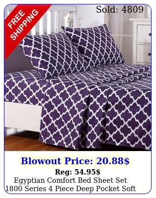 egyptian comfort bed sheet set series piece deep pocket soft bed sheet