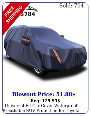 universal fit car cover waterproof breathable suv protection toyota ra