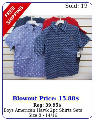 boys american hawk pc shirts sets size