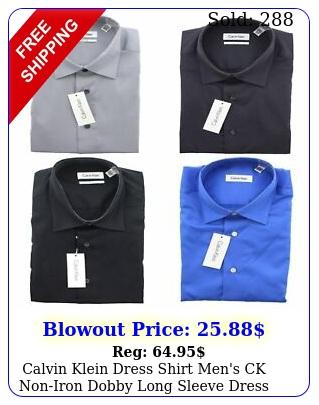 calvin klein dress shirt men's ck noniron dobby long sleeve dress shir