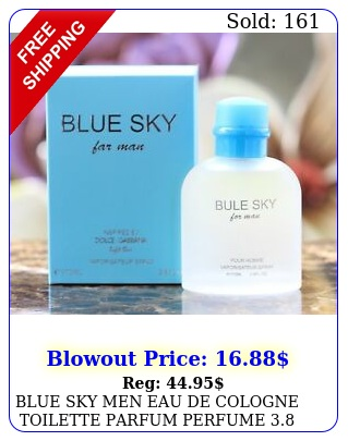blue sky men eau de cologne toilette parfum perfume oz by ebc collectio