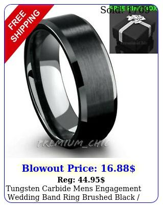 tungsten carbide mens engagement wedding band ring brushed black silver gol