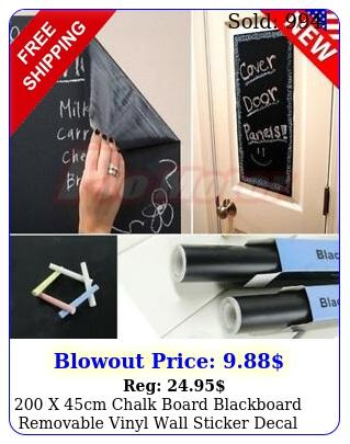 x cm chalk board blackboard removable vinyl wall sticker decal chalkboar