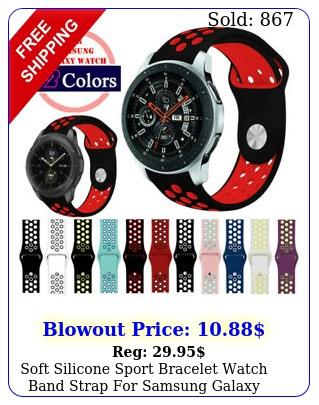 soft silicone sport bracelet watch band strap samsung galaxy watch mm m