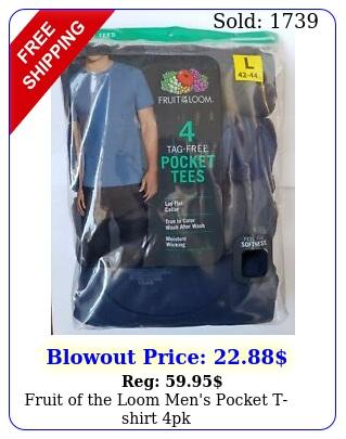 fruit of the loom men's pocket tshirt p