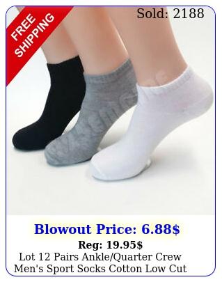 lot pairs anklequarter crew men's sport socks cotton low cut siz