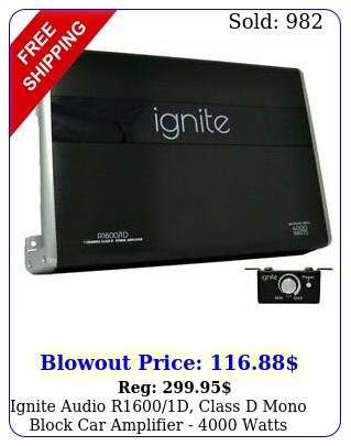 ignite audio rd class d mono block car amplifier  watts peak powe
