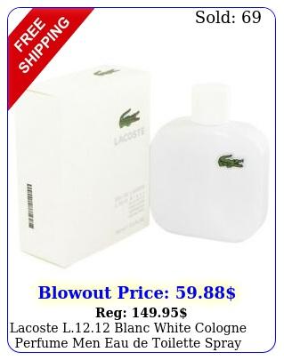 lacoste l blanc white cologne perfume men eau de toilette spray o