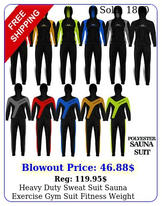heavy duty sweat suit sauna exercise gym suit fitness weight loss with hoo