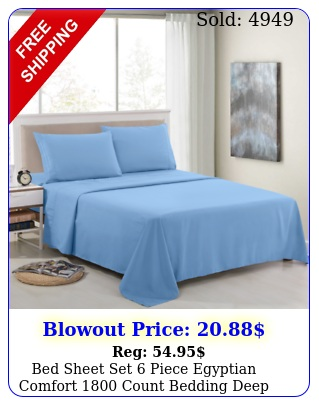 bed sheet set piece egyptian comfort count bedding deep pocket bed shee