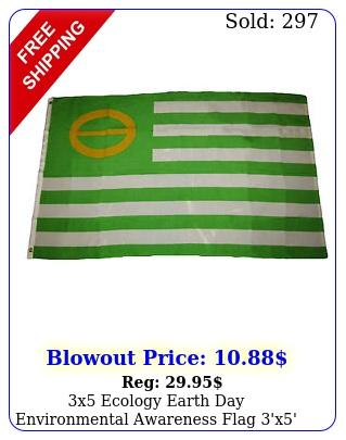 x ecology earth day environmental awareness flag 'x' banner brass grommet