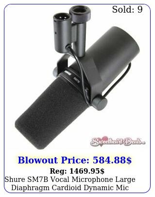 shure smb vocal microphone large diaphragm cardioid dynamic mi
