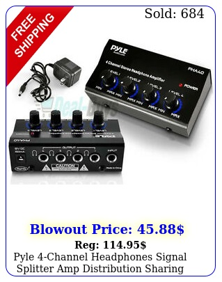 pyle channel headphones signal splitter amp distribution sharing amplifie