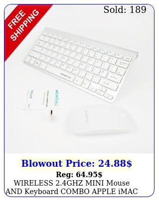 wireless ghz mini mouse keyboard combo apple imac macbook pro air sv u