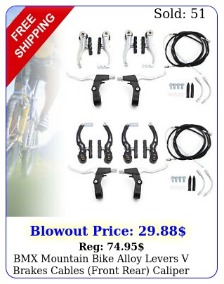 bmx mountain bike alloy levers v brakes cables front rear caliper full se