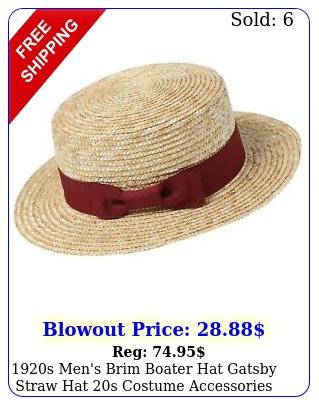 s men's brim boater hat gatsby straw hat s costume accessorie