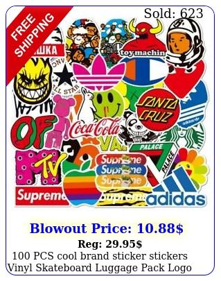 pcs cool brand sticker stickers vinyl skateboard luggage pack logo decal