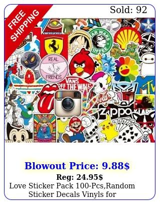 love sticker pack pcsrandom sticker decals vinyls laptopkidscar