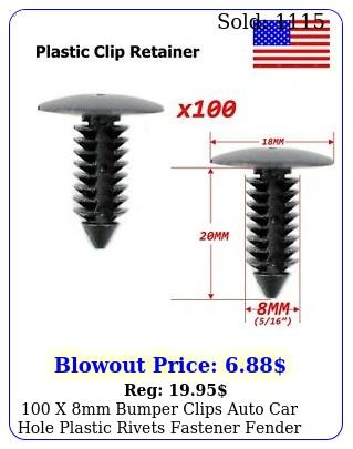 x mm bumper clips auto car hole plastic rivets fastener fender push pi