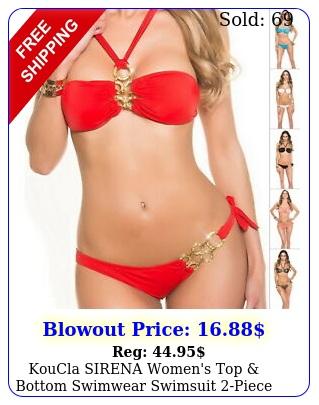 koucla sirena women's top bottom swimwear swimsuit piece bikini set sm