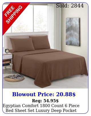 egyptian comfort count piece bed sheet set luxury deep pocket bed sheet
