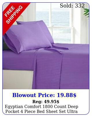 egyptian comfort count deep pocket piece bed sheet set ultra soft sheet