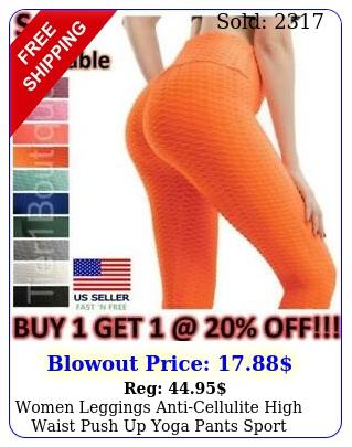 women leggings anticellulite high waist push up yoga pants sport ruched fitnes