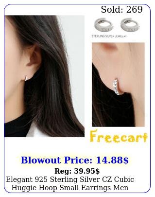 elegant sterling silver czcubic huggie hoop small earrings men women gif