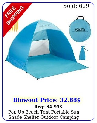 pop up beach tent portable sun shade shelter outdoor camping fishing canopy blu