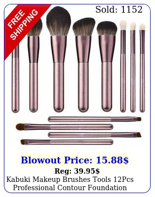kabuki makeup brushes tools pcs professional contour foundation blender brus