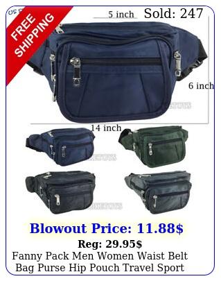 fanny pack men women waist belt bag purse hip pouch travel sport bu