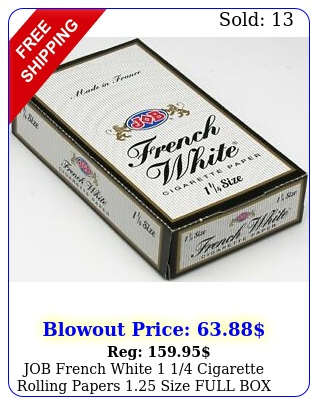 job french white  cigarette rolling papers size full booklet
