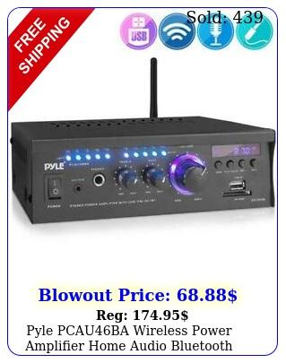 pyle pcauba wireless power amplifier home audio bluetooth receiver syste