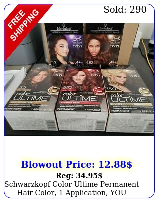 schwarzkopf color ultime permanent hair color application you chose colo
