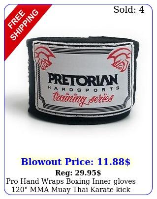 pro hand wraps boxing inner gloves mma muay thai karate kick elasti